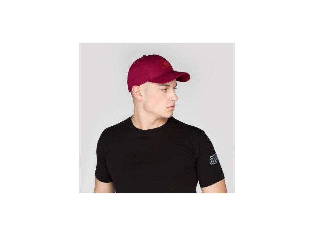 Alpha Industries VLC Cap šiltovka burgundy