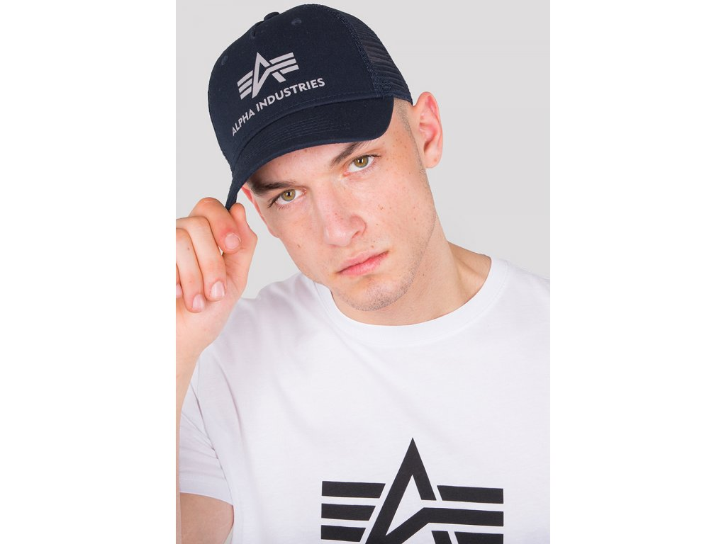 Alpha Industries Basic Trucker Cap šiltovka rep blue d