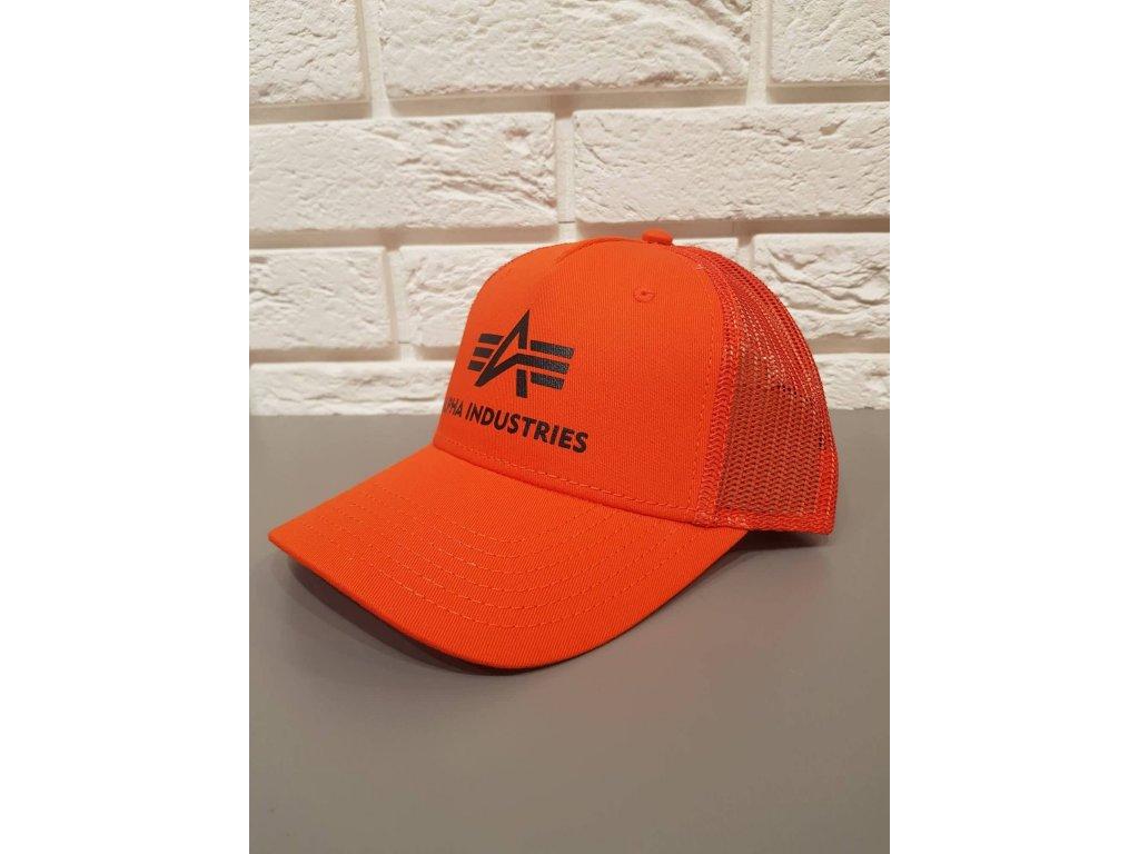 Alpha Industries Basic Trucker Cap šiltovka flame orange