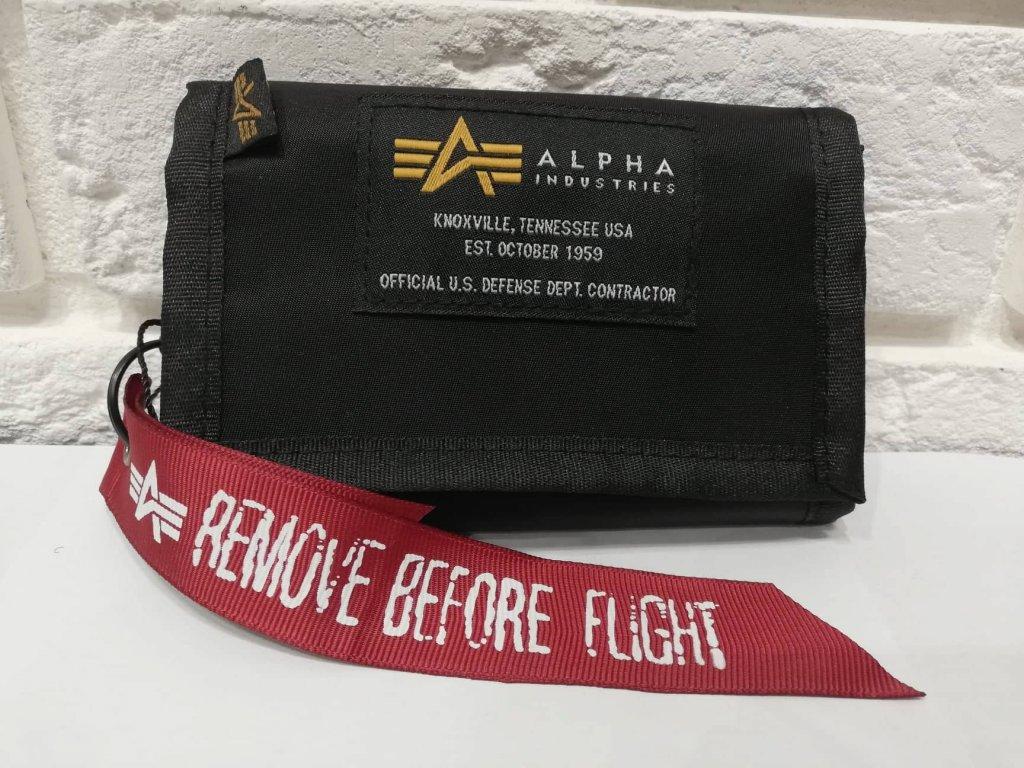 Alpha Industries Crew Wallet Black peňaženka