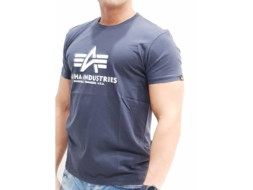 Alpha Industries Basic T-Shirt Navy tričko pánske