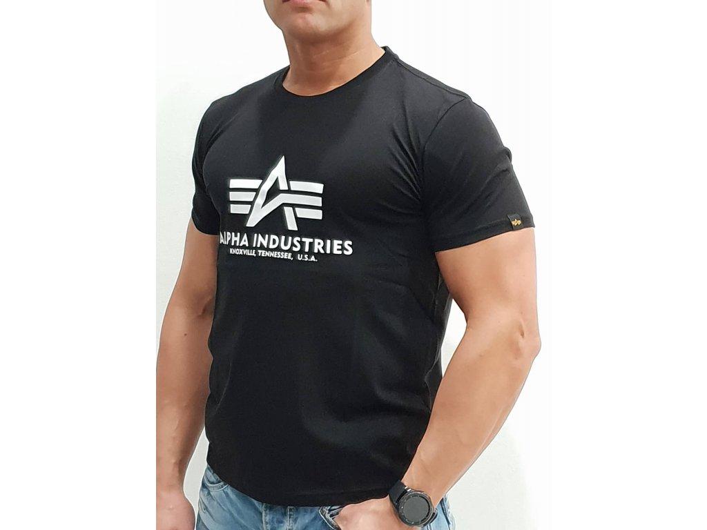 Alpha Industries Basic T-Shirt Black tričko pánske