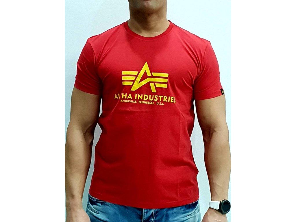Alpha Industries Basic T-Shirt Speed Red tričko pánske
