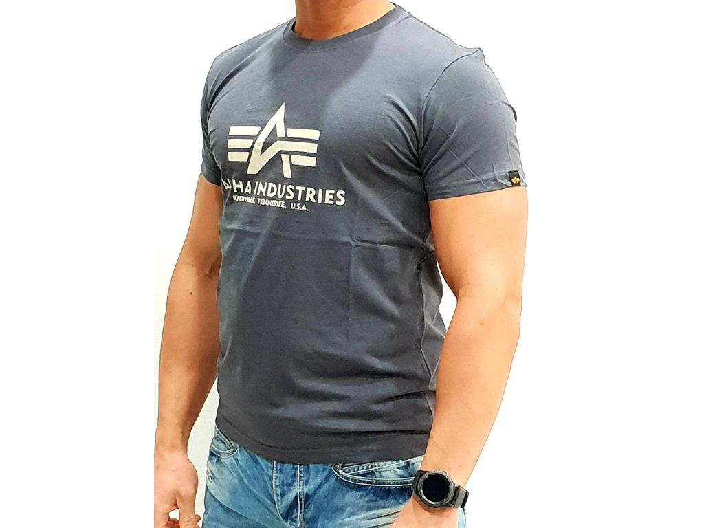 Alpha Industries Basic T-Shirt Greyblack tričko pánske