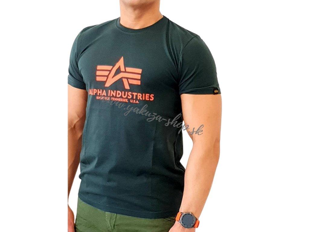 Alpha Industries Basic T-Shirt Dark Petrol tričko pánske