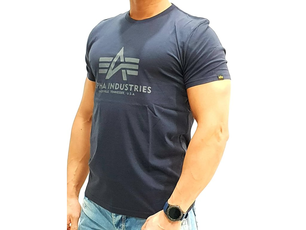 Alpha Industries Basic T Shirt Rep Blue tričko pánske