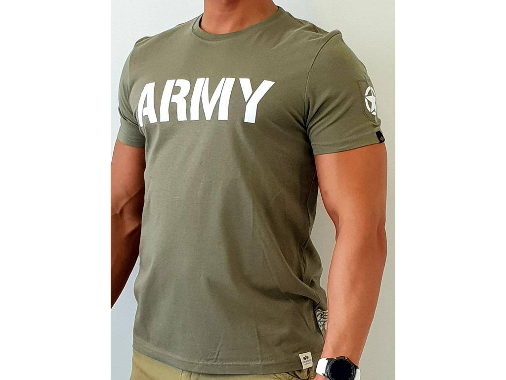 Alpha Industries ARMY T Olive tričko pánske