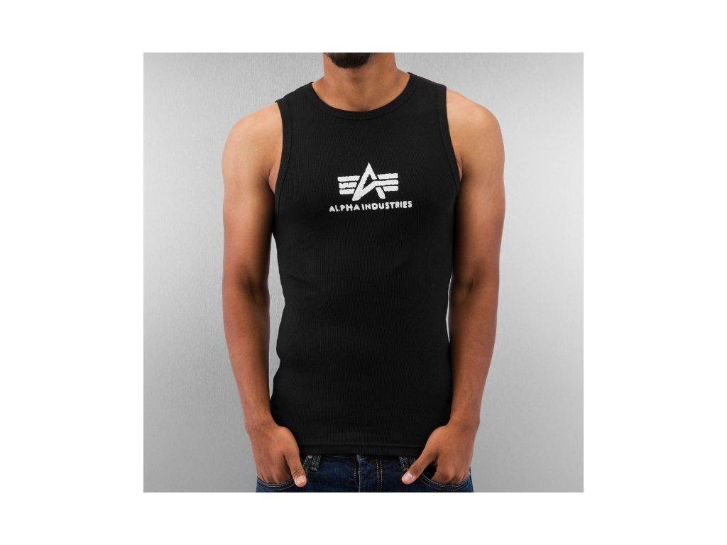 Alpha Industries Logo Tank Black/White tielko pánske
