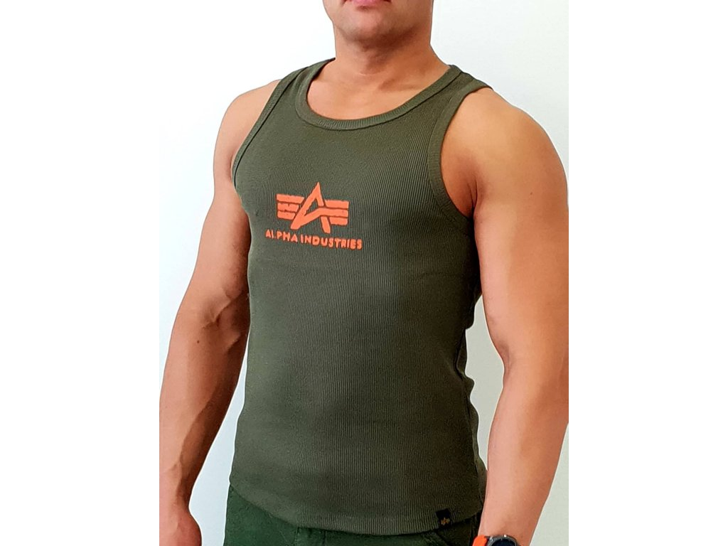Alpha Industries Logo Tank tielko pánske dark green