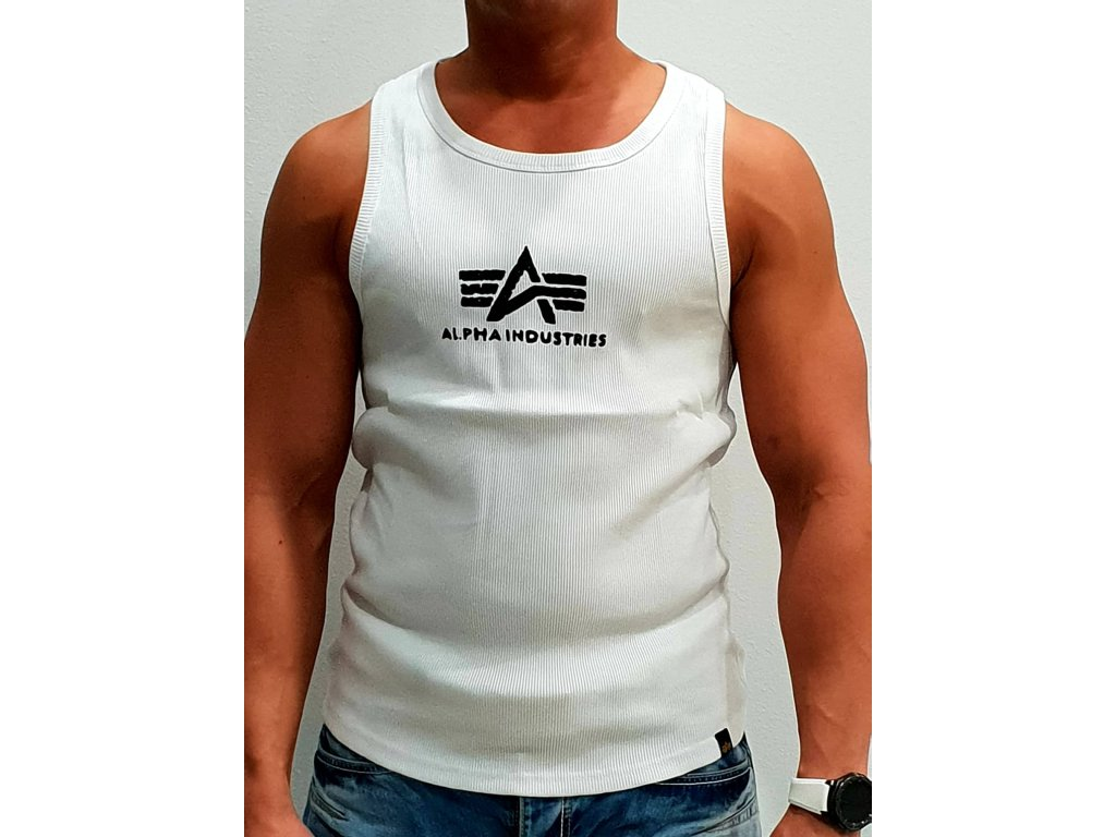 Alpha Industries Logo Tank White/Black tielko pánske