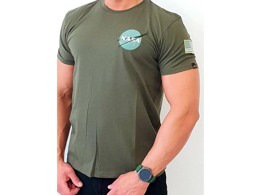 Alpha Industries Space Shuttle T tričko pánske dark green