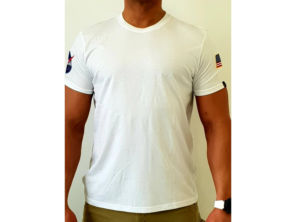 Alpha Industries NASA T White tričko pánske