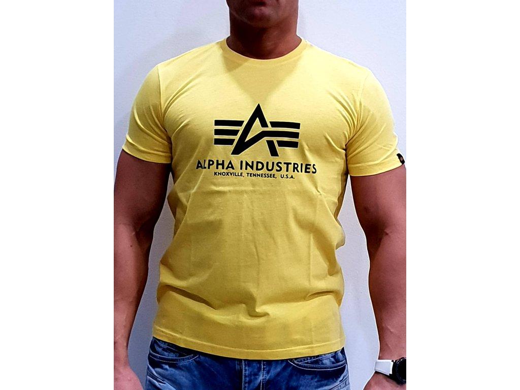 Alpha Industries Basic T-Shirt Prime Yellow tričko pánske