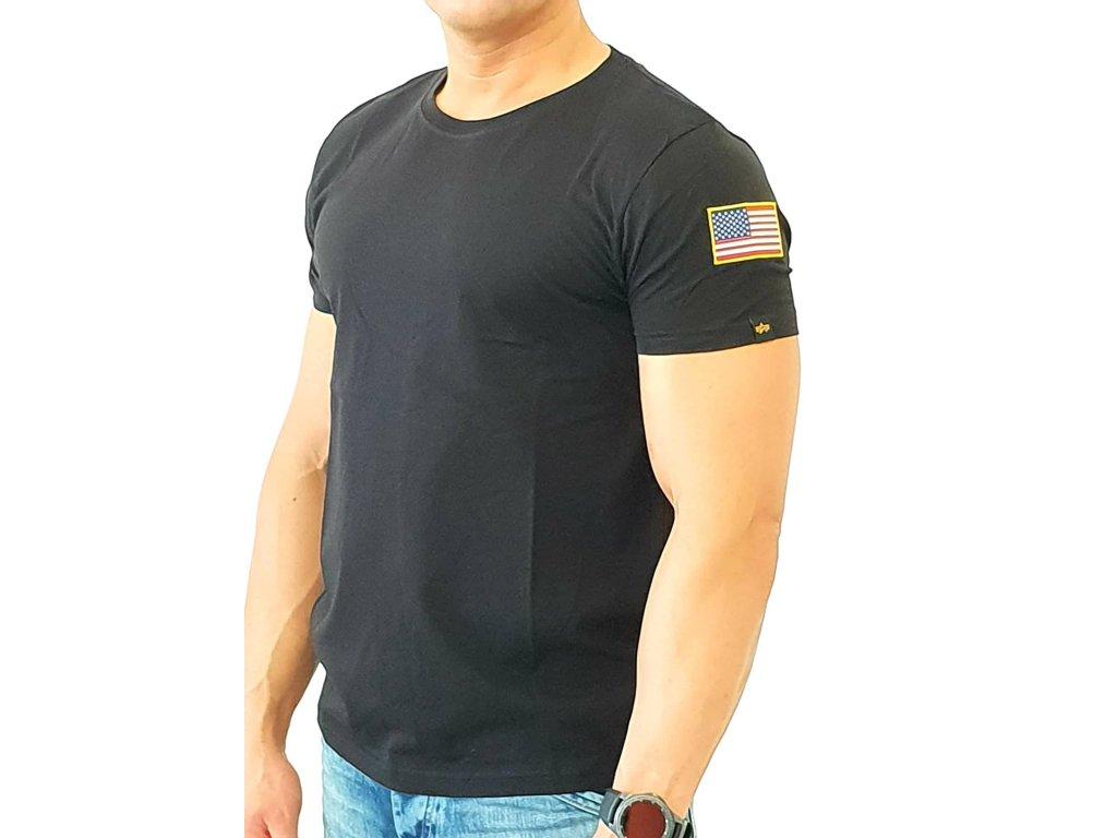 Alpha Industries NASA T black tričko pánske