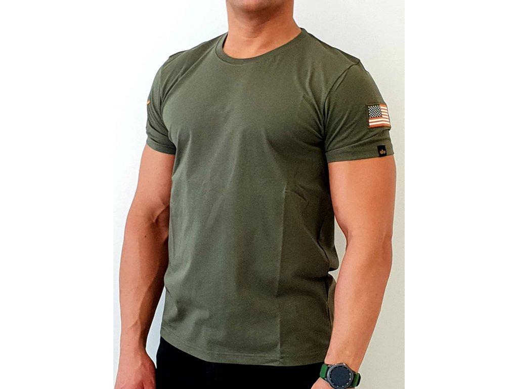 Alpha Industries NASA T Dark Olive tričko pánske