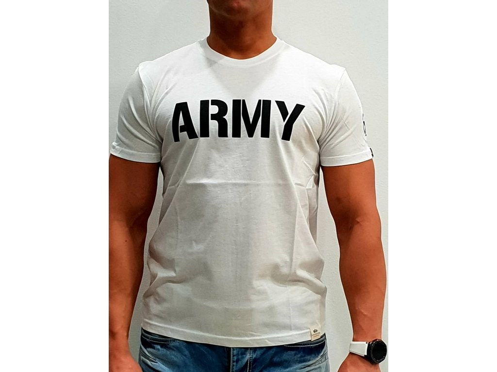 Alpha Industries ARMY T white/black tričko pánske