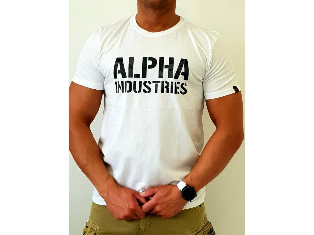Alpha Industries Camo Print T White tričko pánske