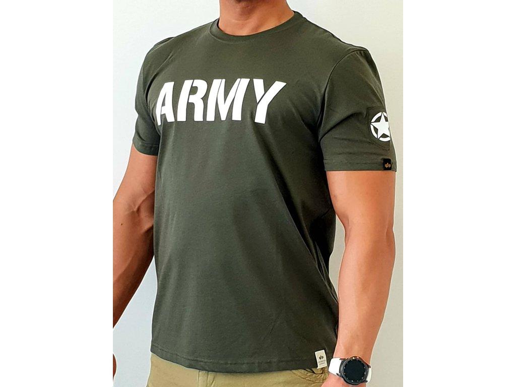 Alpha Industries ARMY T Dark Olive tričko pánske