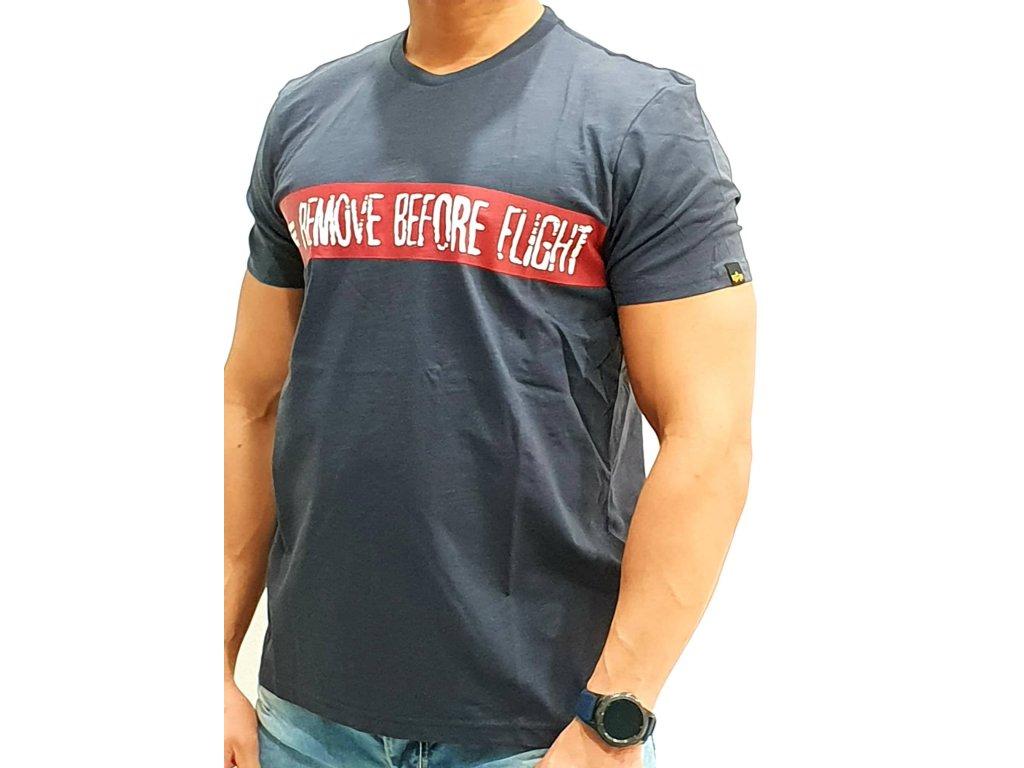 Alpha Industries RBF T navy tričko pánske