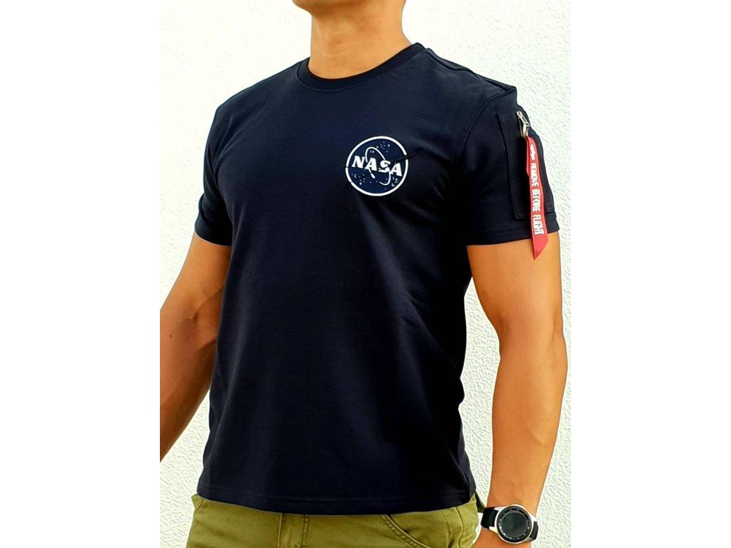 Alpha Industries NASA Heavy T tričko pánske rep blue