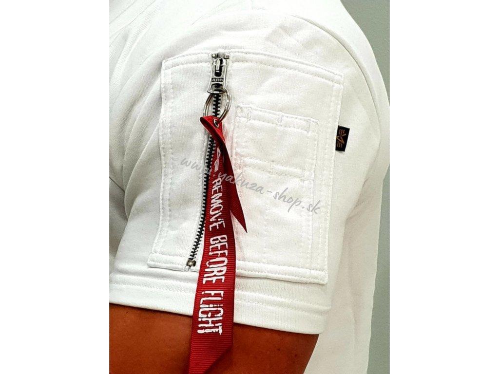 Alpha Industries NASA Heavy T tričko pánske white