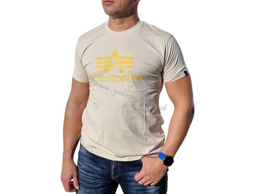 Alpha Industries Basic T Shirt Vintage White tričko pánske