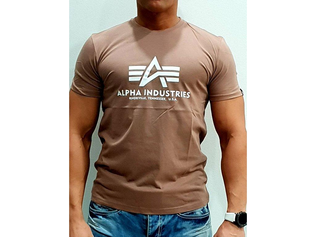 Alpha Industries Basic T Shirt Mauve tričko pánske