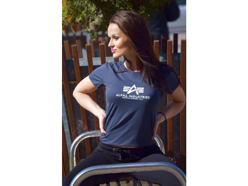 Alpha Industries New Basic T Wmn Navy dámske tričko