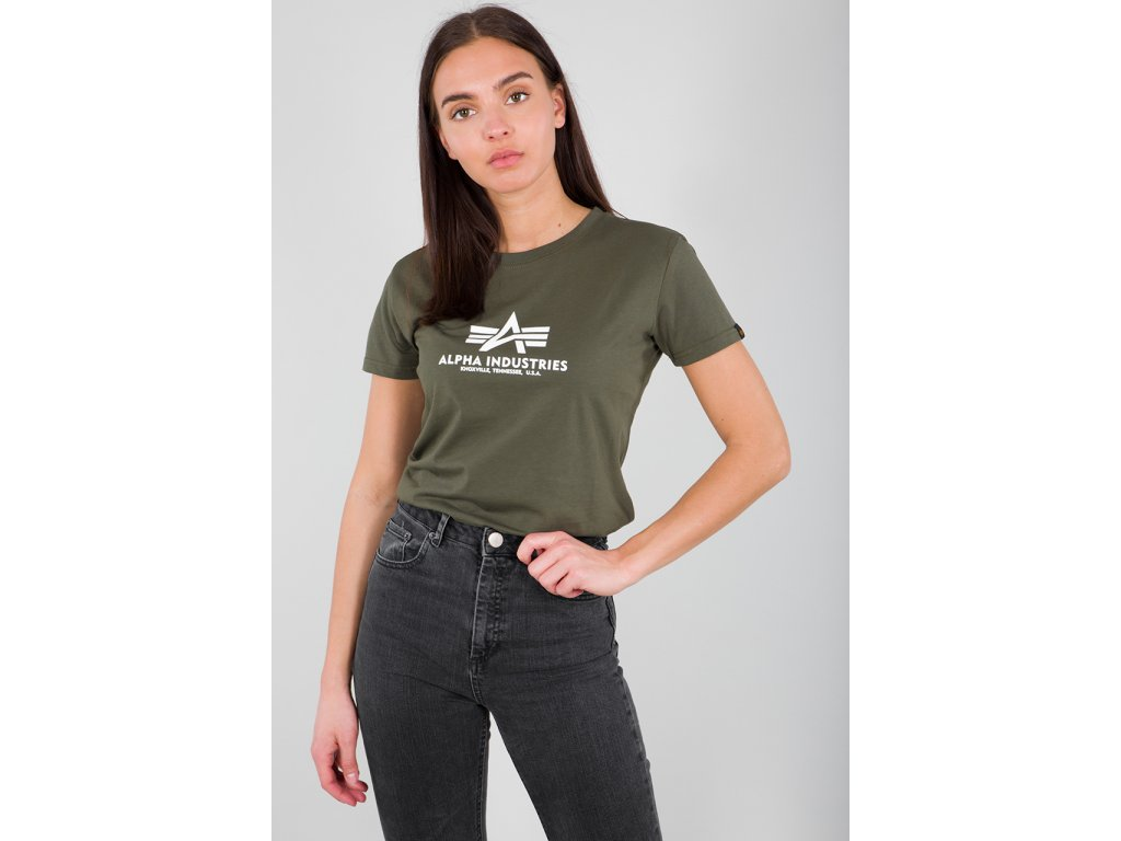 Alpha Industries New Basic T Wmn dark Olive dámske tričko