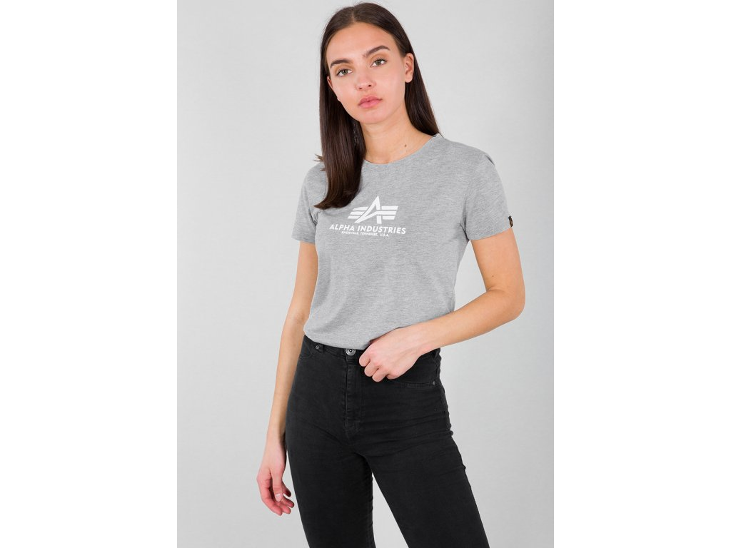 Alpha Industries New Basic T Wmn Grey Heather dámske tričko