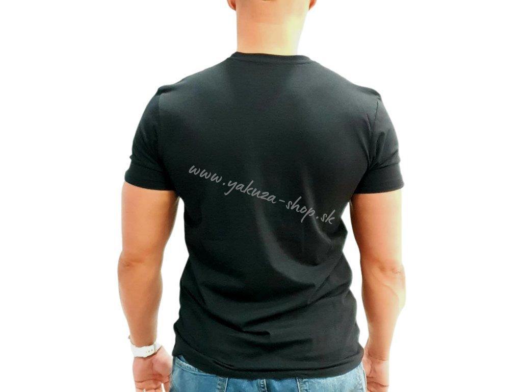Alpha Industries Tape Stripes T Black tričko pánske