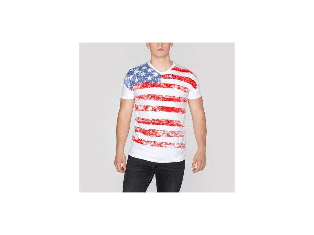 Alpha Industries US T White tričko pánske