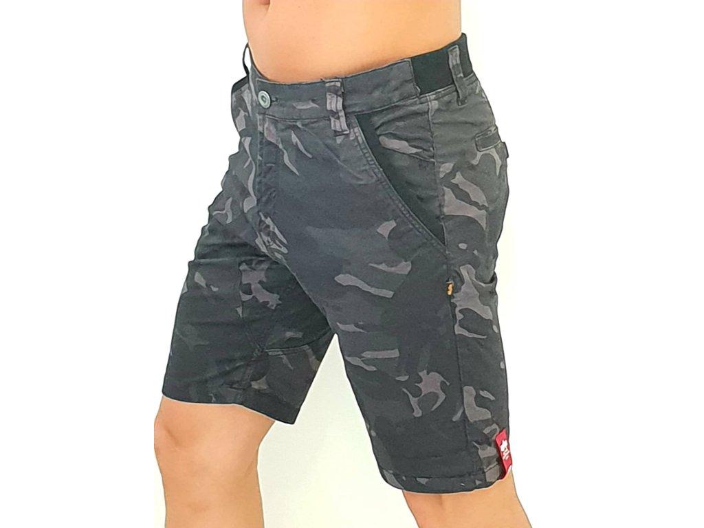 Alpha IndustriesKerosene Short Camo pánske šortky black camo