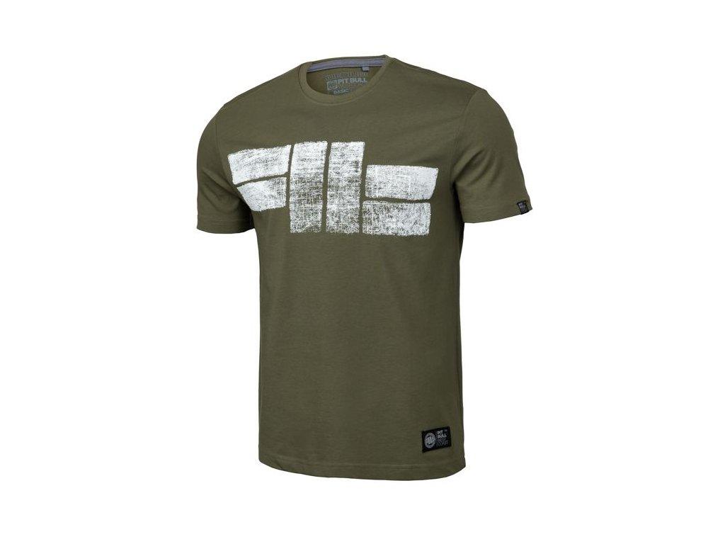 PitBull West Coast CLASSIC LOGO 19 olive tričko pánske