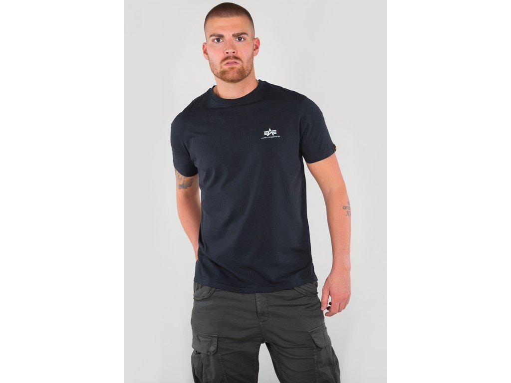 Alpha Industries Basic T Small logo Navy tričko pánske