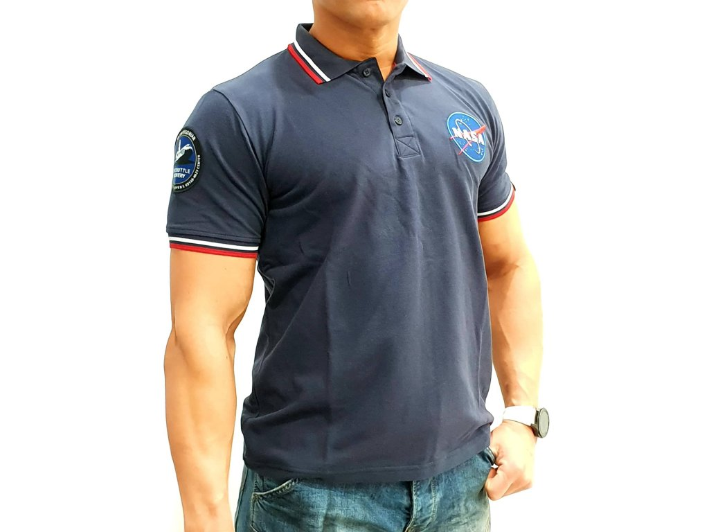 Alpha Industries NASA Polo Rep Blue tričko pánske