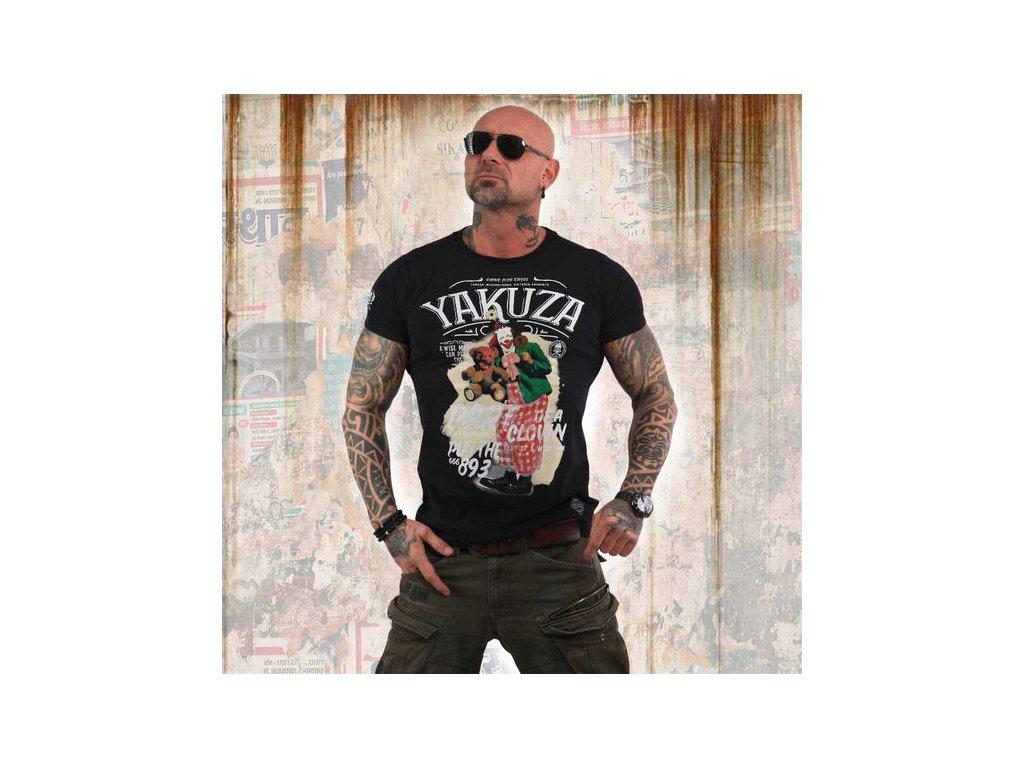 Yakuza CLOWN tričko pánske TSB 13028 Black