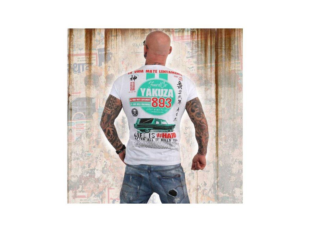 Yakuza MATE LENTAMENTE tričko pánske TSB 13033 white