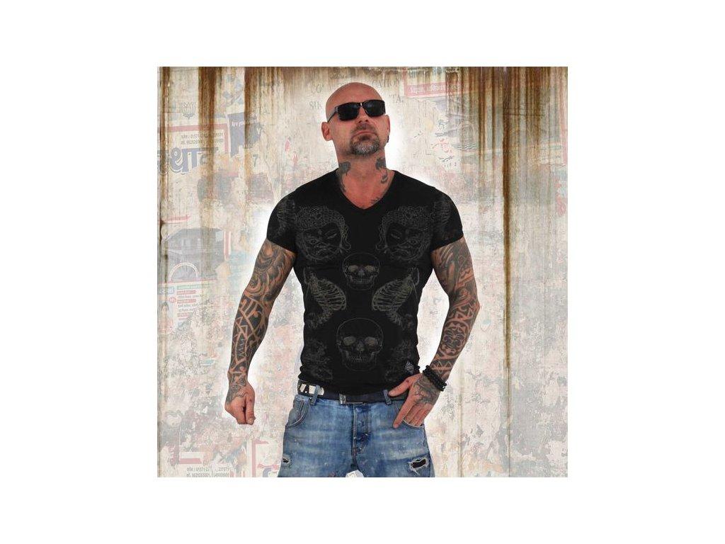 Yakuza BURNOUT TEMPLE tričko pánske TSB 13035 Black