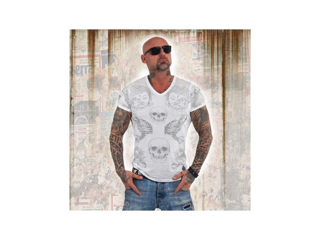 Yakuza BURNOUT TEMPLE tričko pánske TSB 13035 white