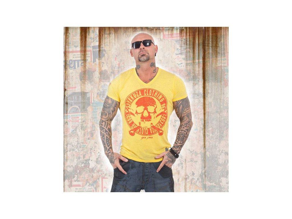 Yakuza BURNOUT DAILY JOLLY tričko pánske TSB 13037 Dandelion