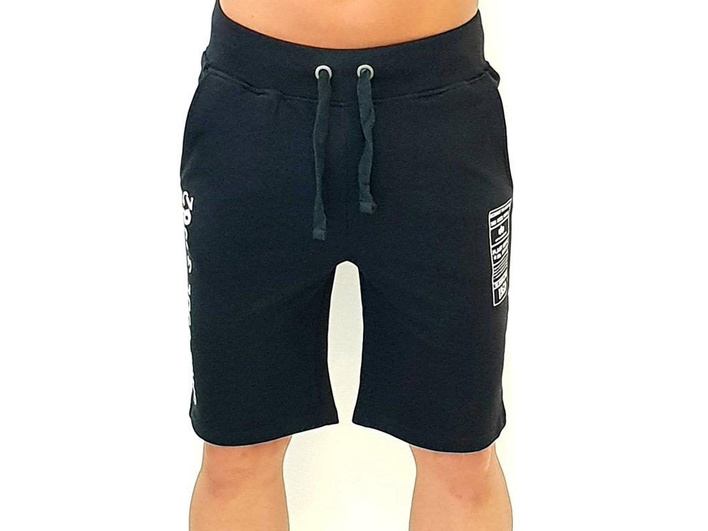 Alpha Industries Cage Code Jogger Short Black pánske šortky