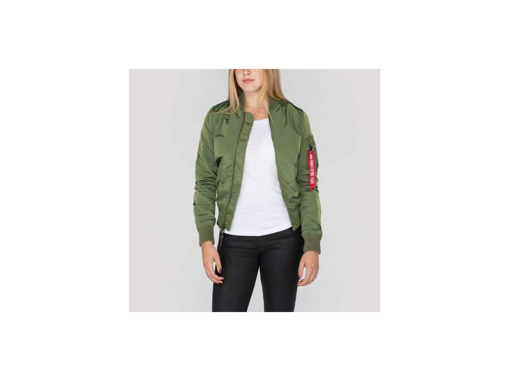 Alpha Industries dámska bunda MA-1 TT Sage Green