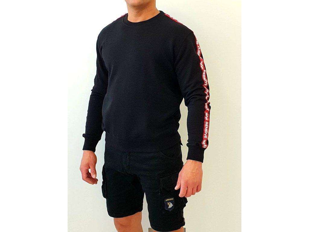 Alpha Industries RBF Tape Sweater Black mikina pánska
