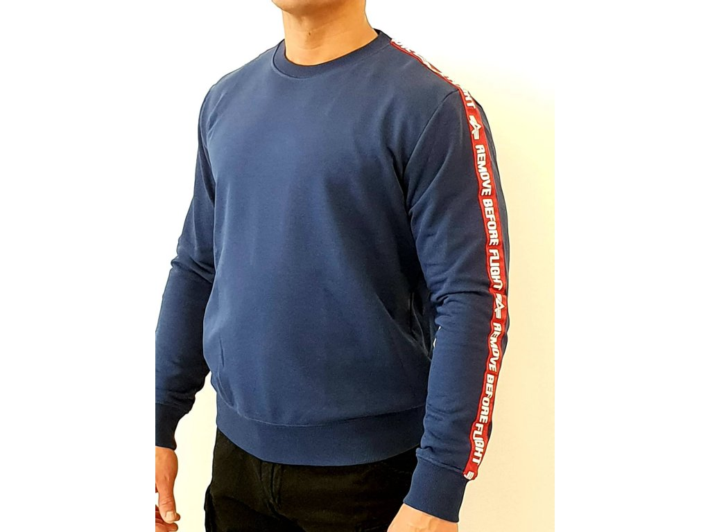 Alpha Industries RBF Tape Sweater New Navy mikina pánska