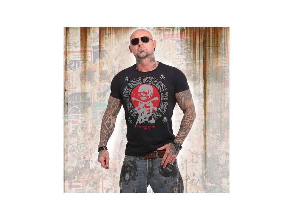 Yakuza NIPPON SKULL tričko pánske TSB 14044 black