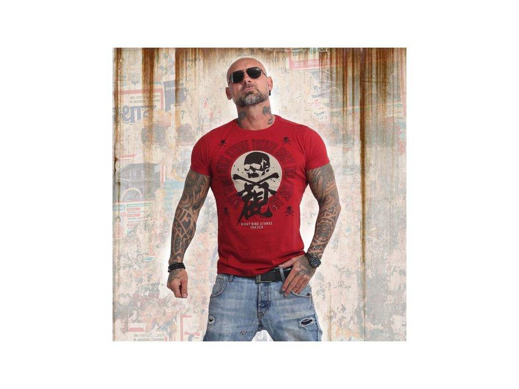 Yakuza NIPPON SKULL tričko pánske TSB 14044 chilipeper