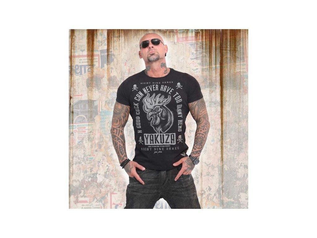Yakuza GOOD COCK tričko pánske TSB 14043 black