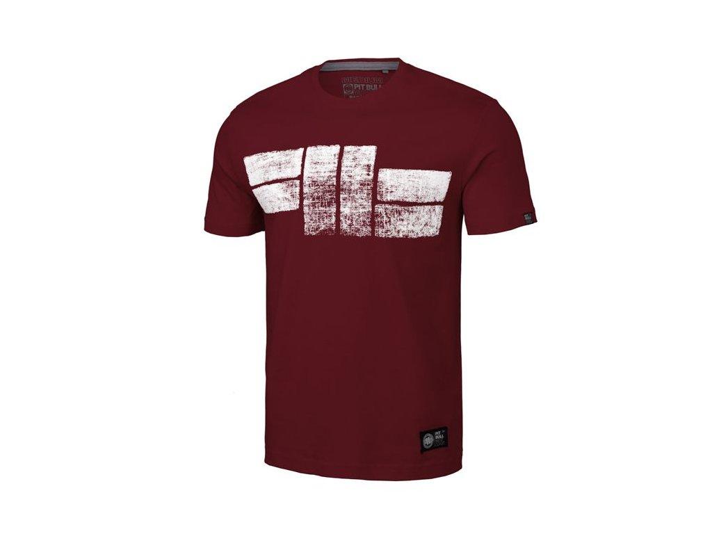 PitBull West Coast CLASSIC LOGO 19 burgundy tričko pánske