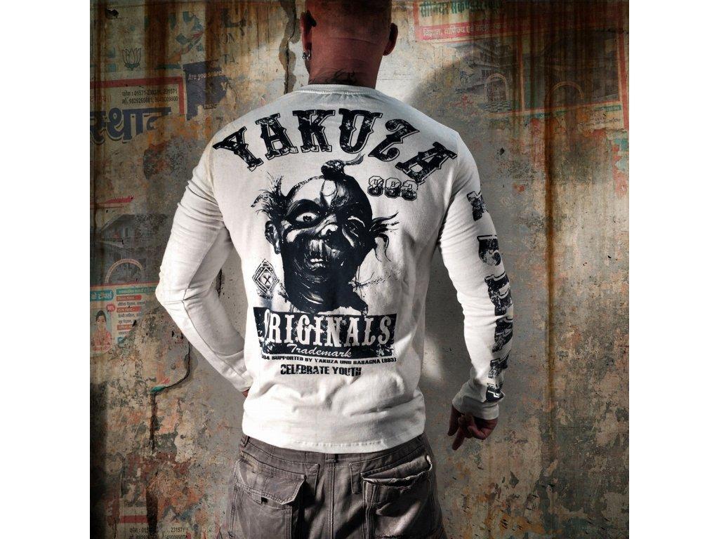 Yakuza tričko pánske s dlhým rukávom LSB 623 snow white